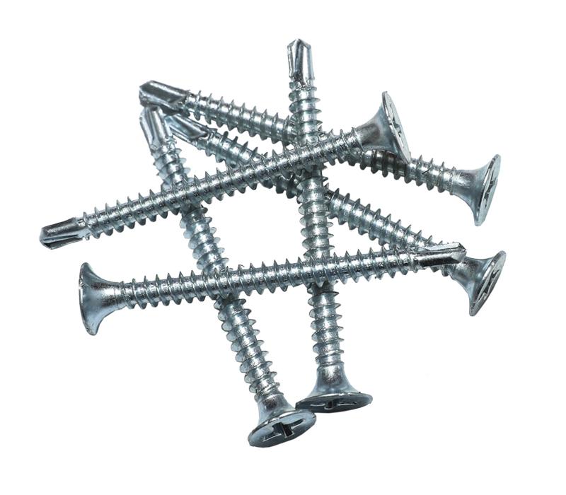 Tornillo para paneles de yeso, cabeza phillips bugle, autoperforante